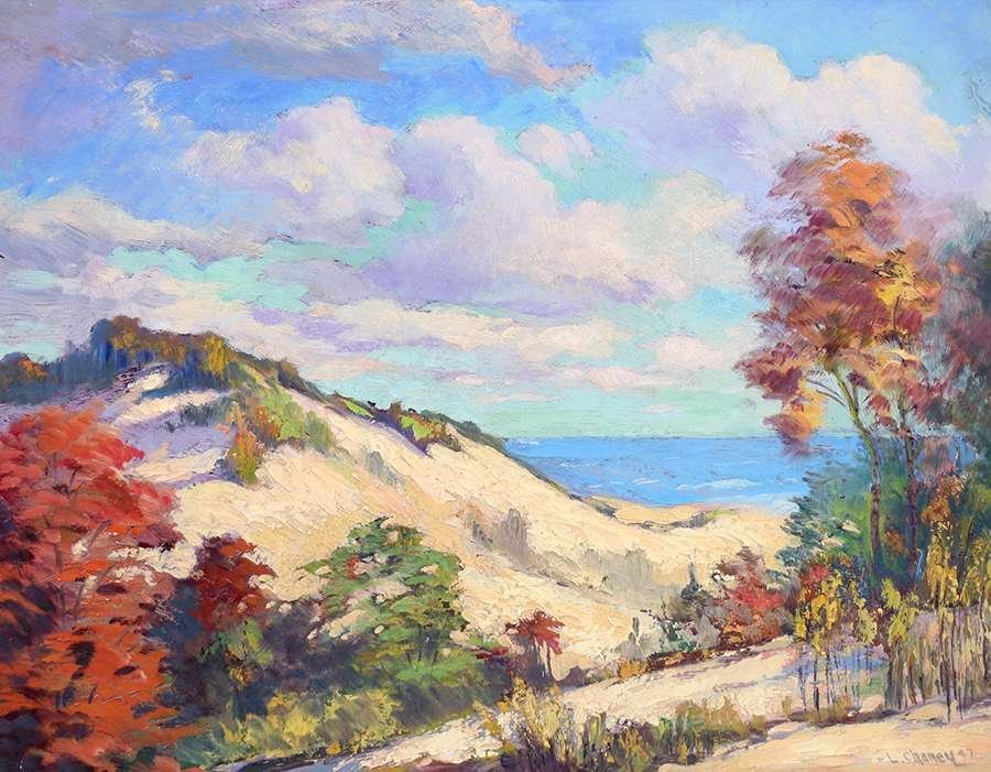 Lester Joseph Chaney Painting of California Sand Dunes