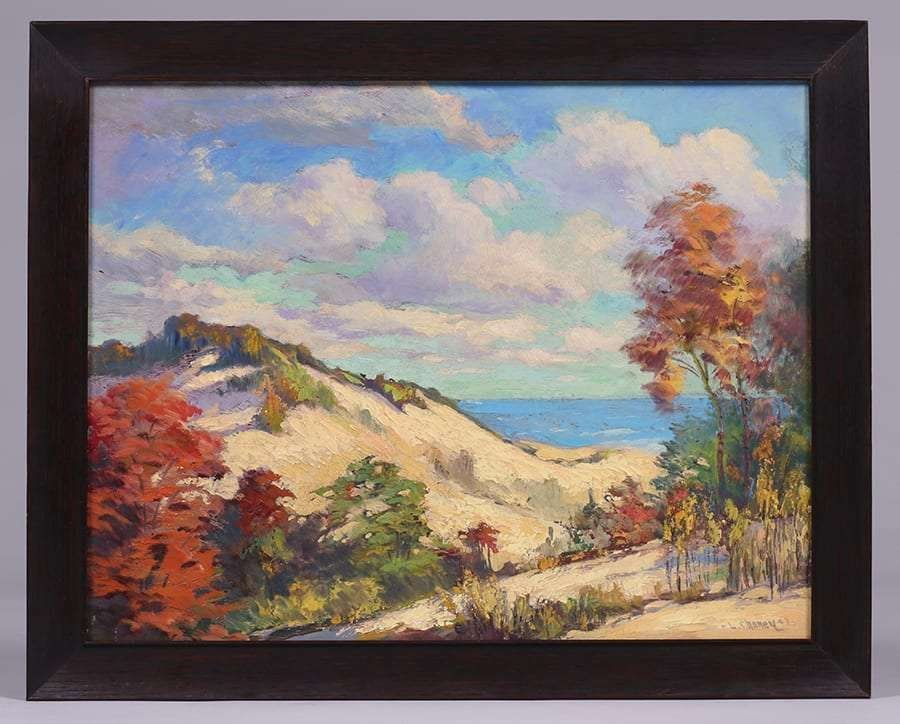 Lester Joseph Chaney Painting of California Sand Dunes - 2