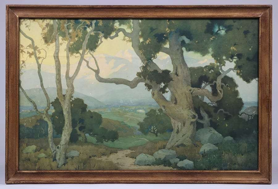 """Large Marion Wachtel Print """"The Oaks"""" c1917 - 2"""