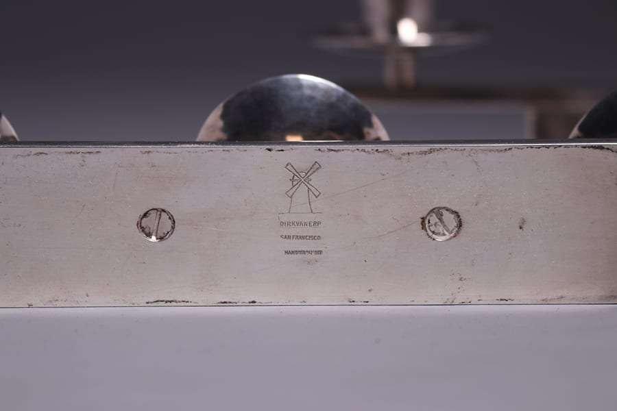 Dirk van Erp Modernist Silver-Plated Candelabras - 2