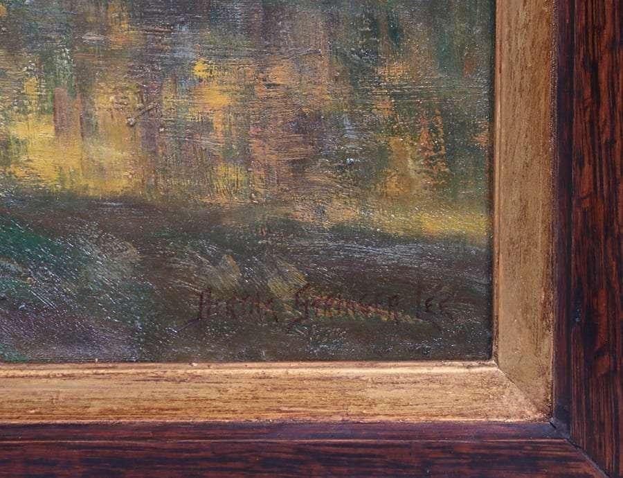 Bertha Stringer Lee Painting Smilling Through,San Mateo - 3