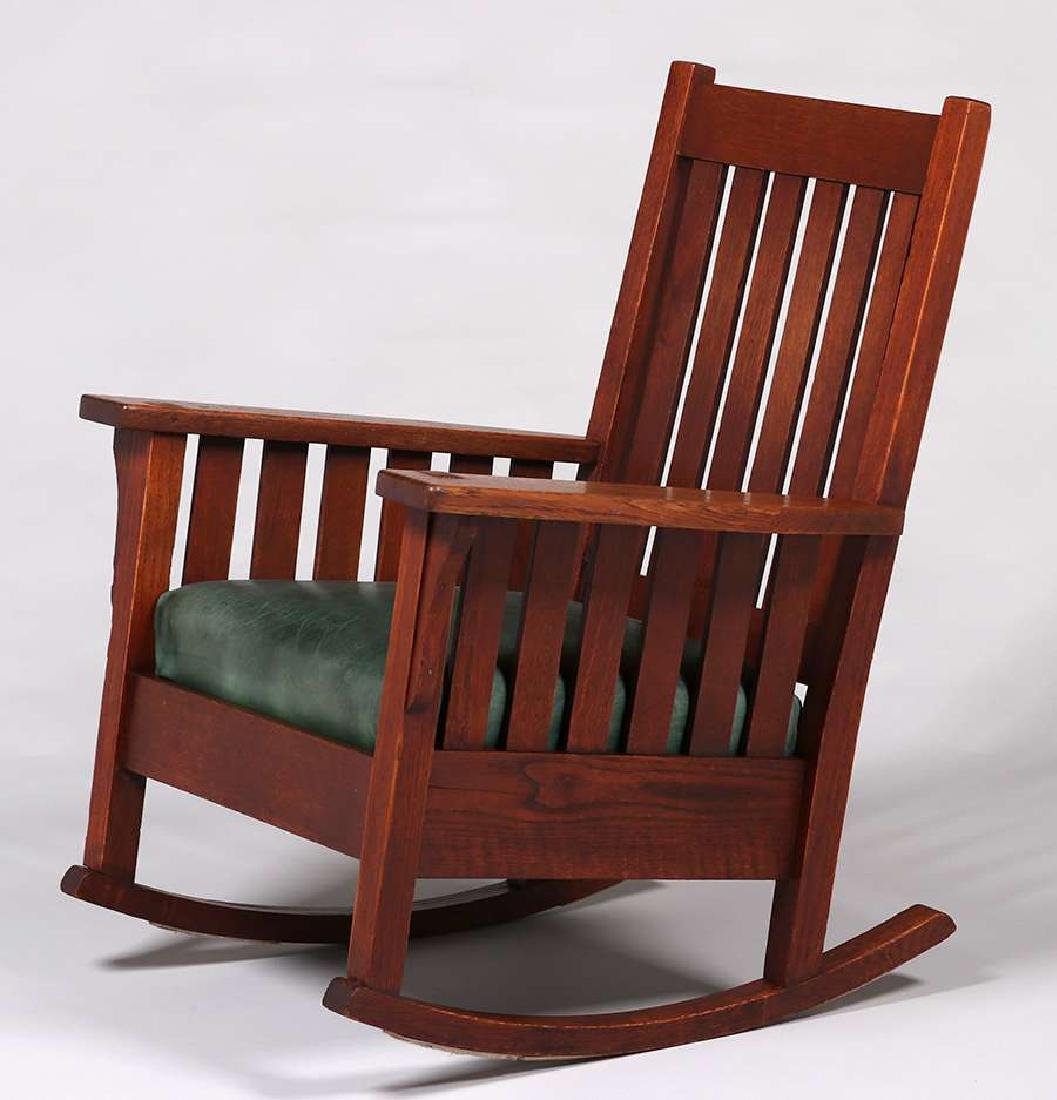 JM Young Slatted Rocker c1910