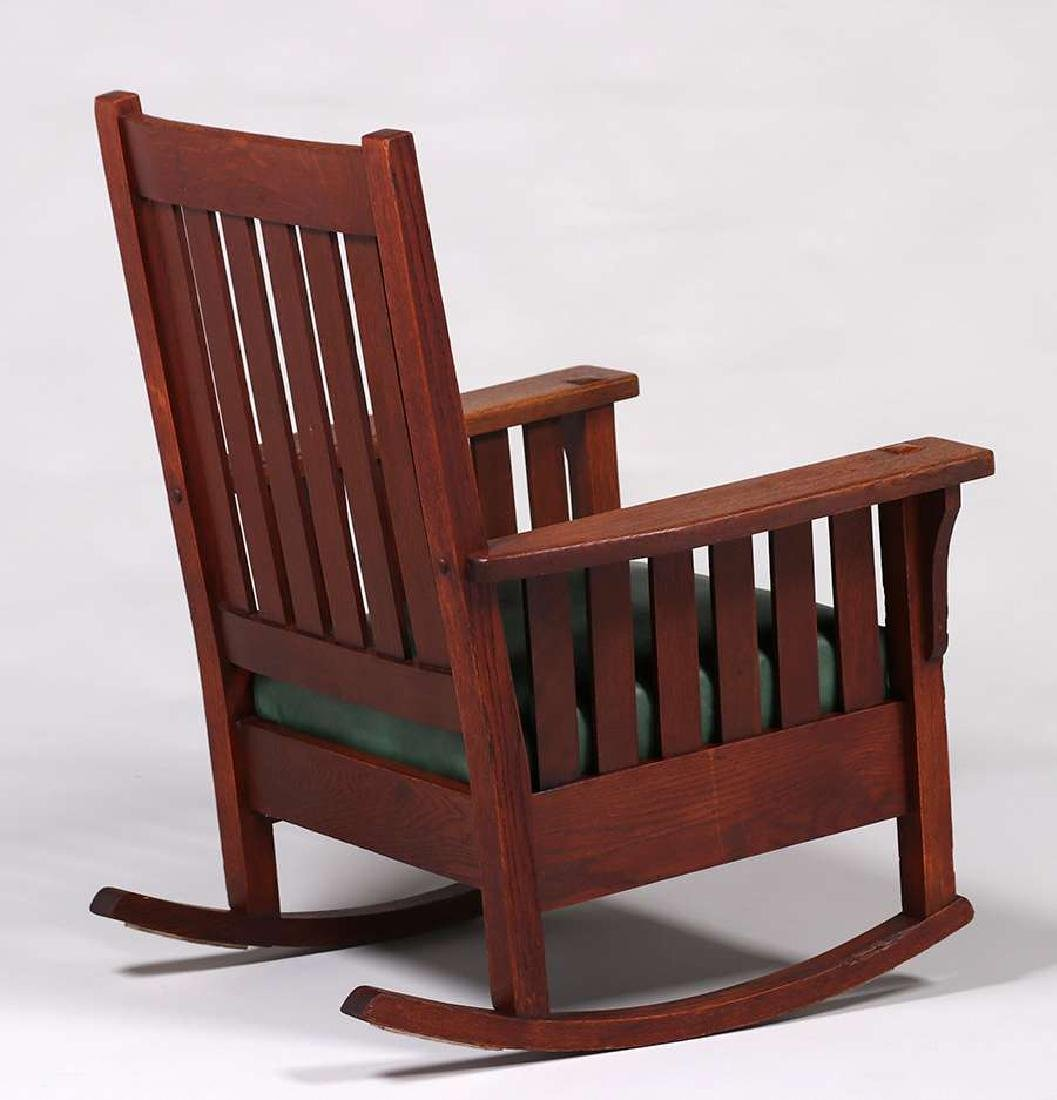 JM Young Slatted Rocker c1910 - 2