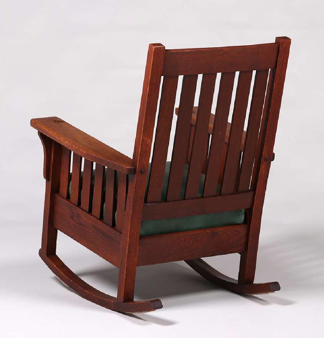 JM Young Slatted Rocker c1910 - 3