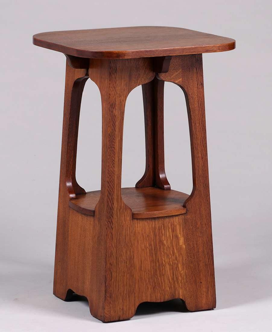 "Brooks Furniture Co ""Pagoda"" Table c1910 - 2"