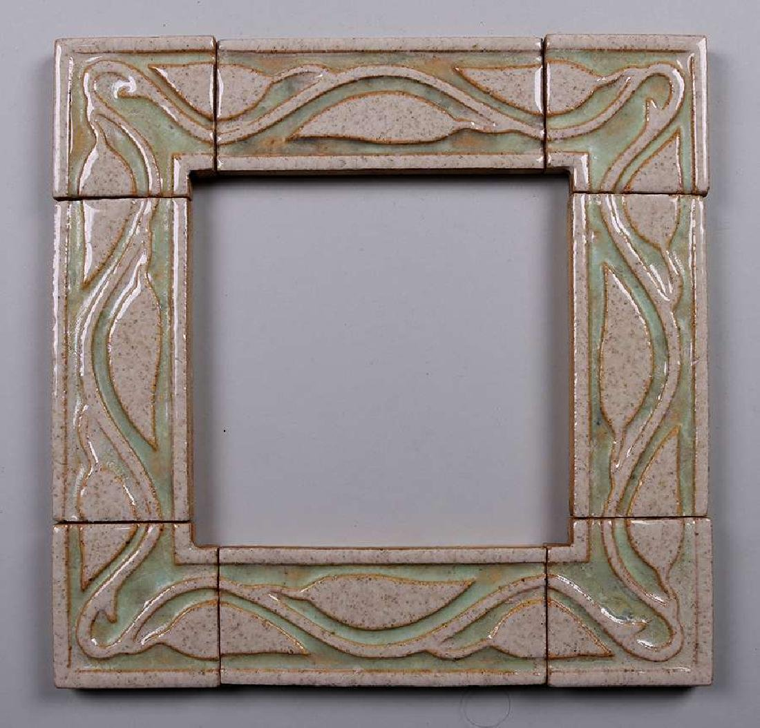 Grueby Faience 8-Piece Tile Frame c1910