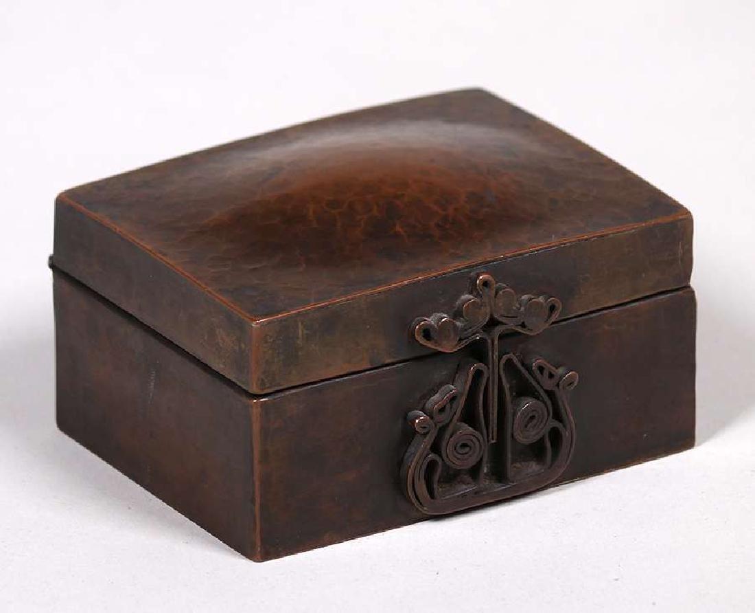 Harry Dixon Hammered Copper Puzzle Box