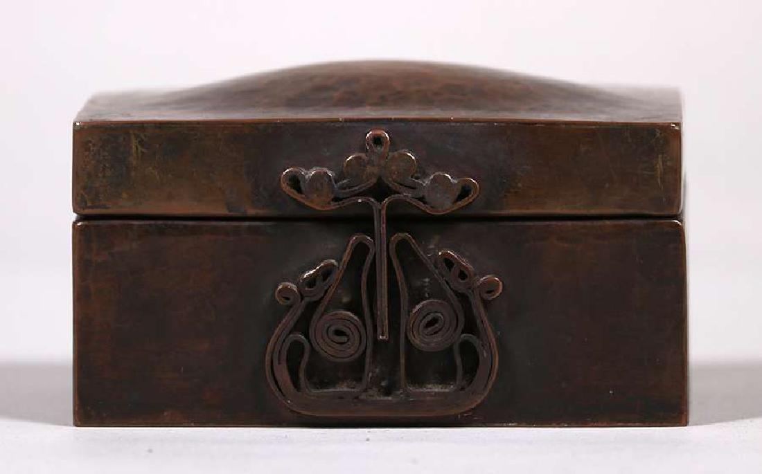Harry Dixon Hammered Copper Puzzle Box - 2