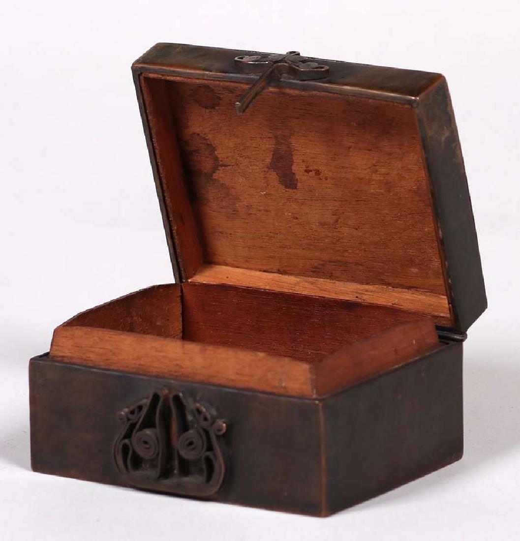 Harry Dixon Hammered Copper Puzzle Box - 3