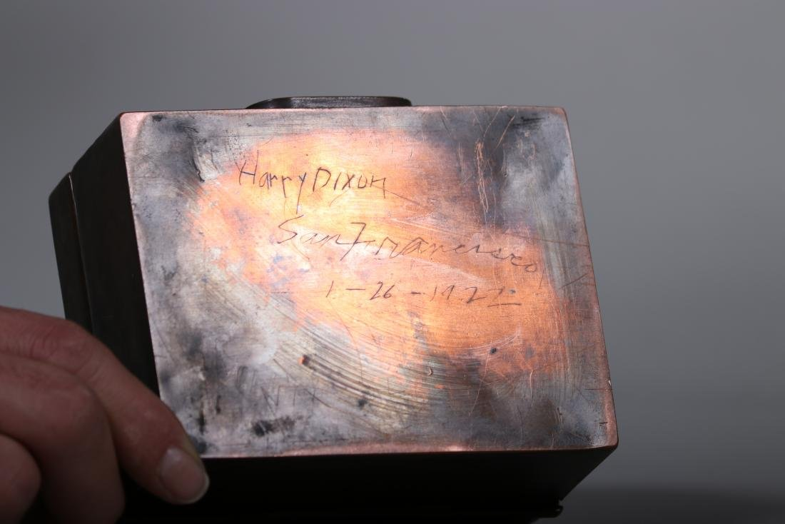 Harry Dixon Hammered Copper Puzzle Box - 4