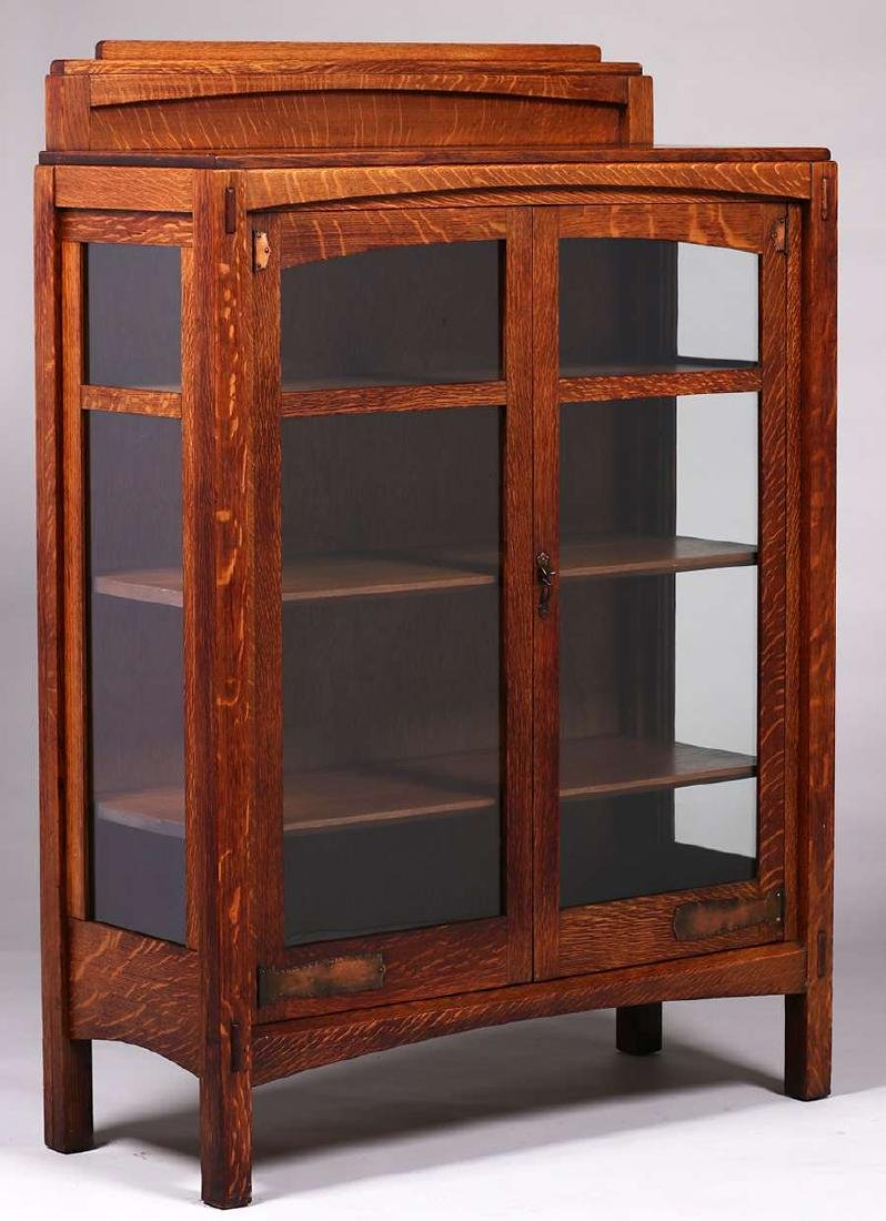 Limbert Two-Door China Cabinet c1910