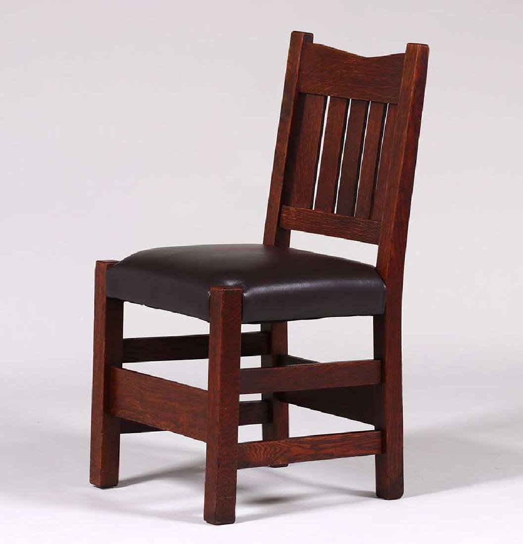 Gustav Stickley V-Back Side Chair