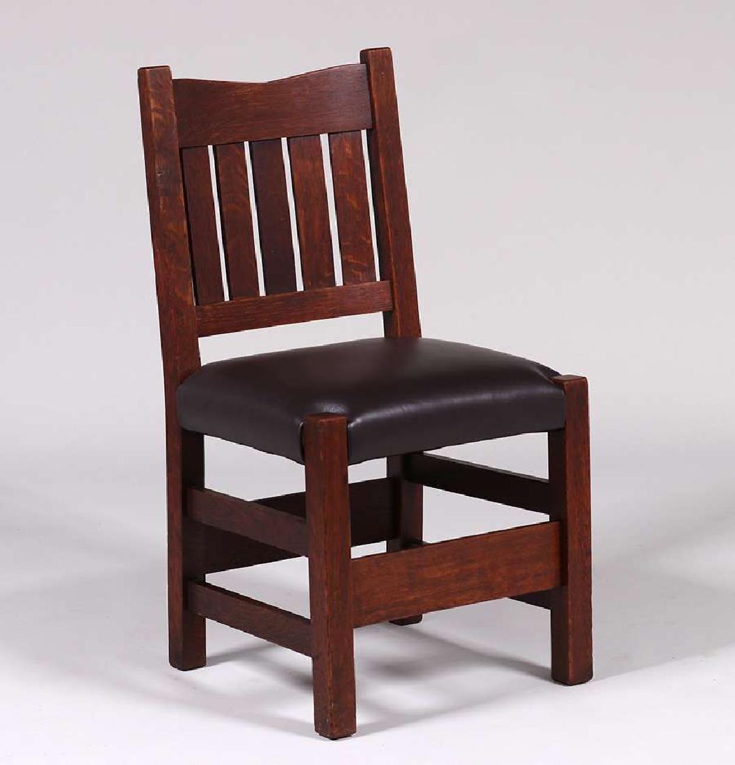 Gustav Stickley V-Back Side Chair - 2