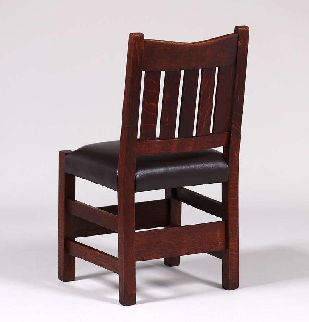 Gustav Stickley V-Back Side Chair - 3