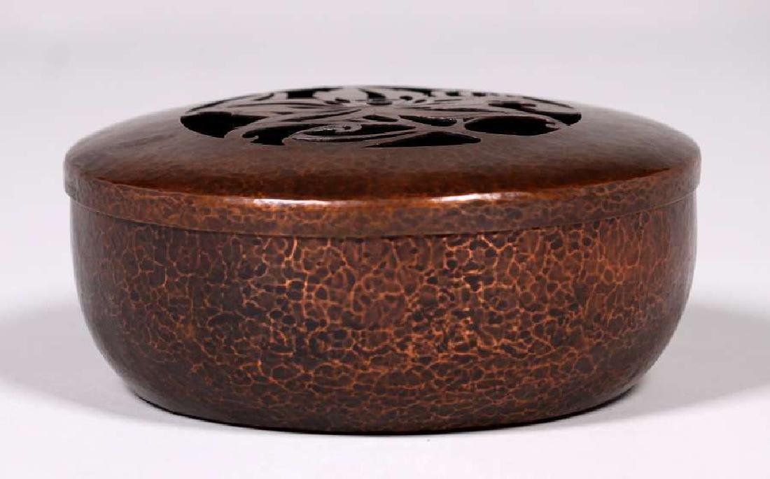 Arts & Crafts Hammered Copper Potpourri Container c1910 - 2