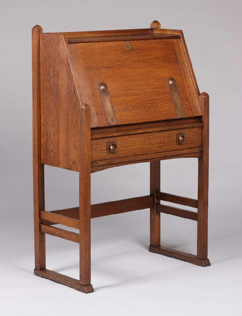 Drop Front Desk >> Stickley Brothers Strap Hinge Dropfront Desk C1910
