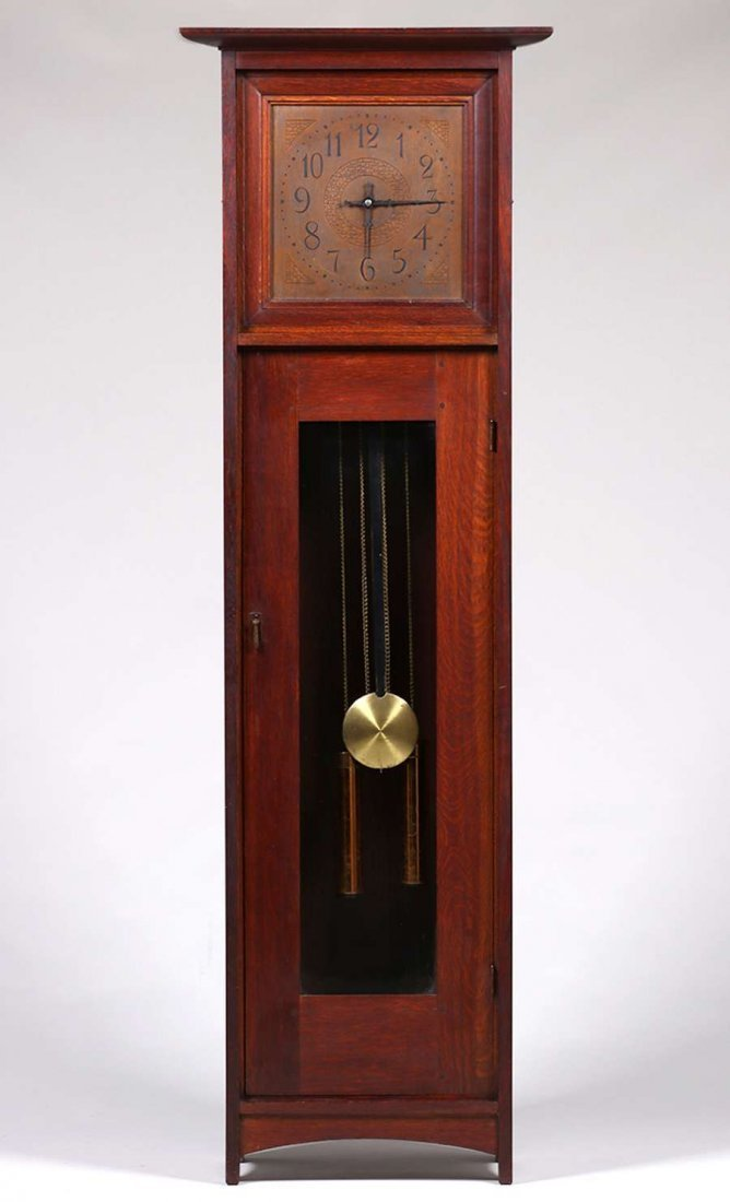 L&JG Stickley Grandfather Clock c1910 - 2