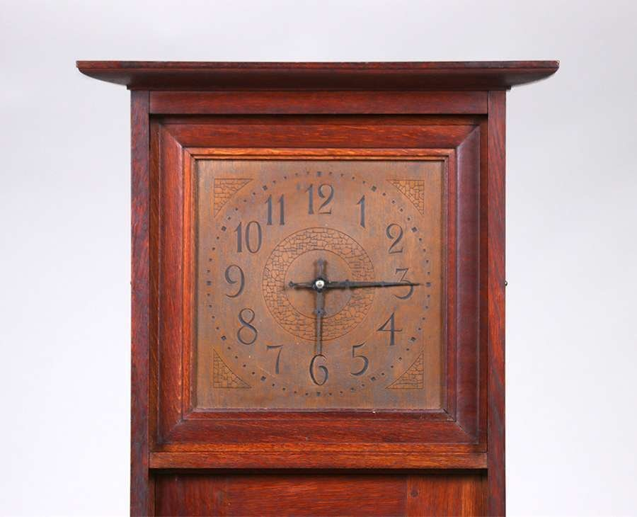 L&JG Stickley Grandfather Clock c1910 - 3