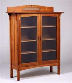 Limbert Ebon-Oak Two-Door Bookcase c1912
