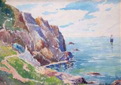 George Demont Otis Watercolor Lands End SF 1932