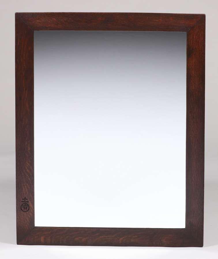 Roycroft Oak Framed Mirror c1910