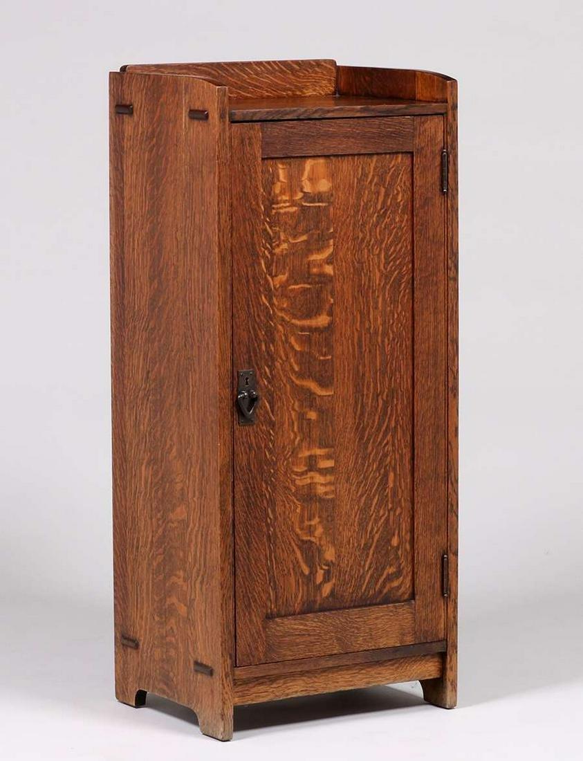 Gustav Stickley One-Door Music Cabinet c1907-1912