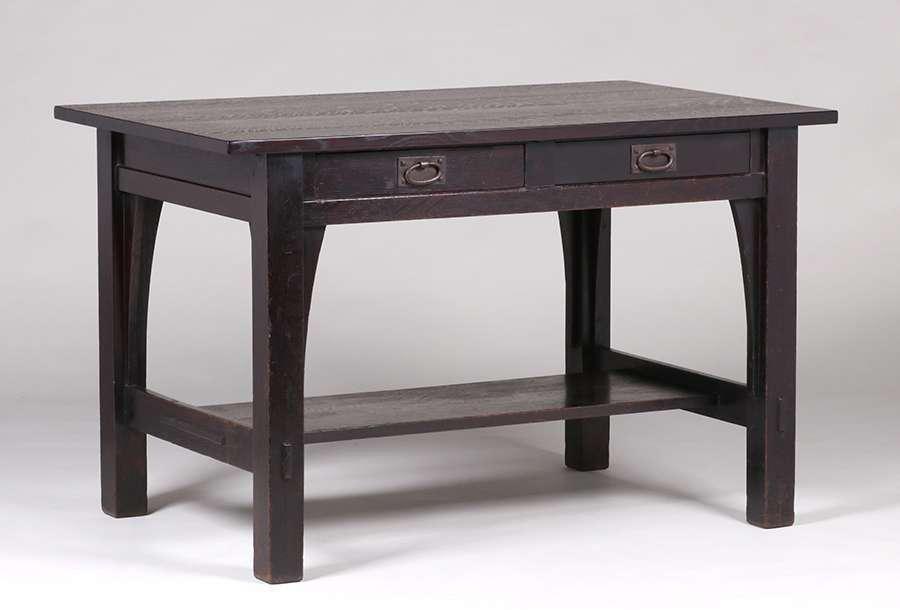 Gustav Stickley Four-Drawer Library Table c1904