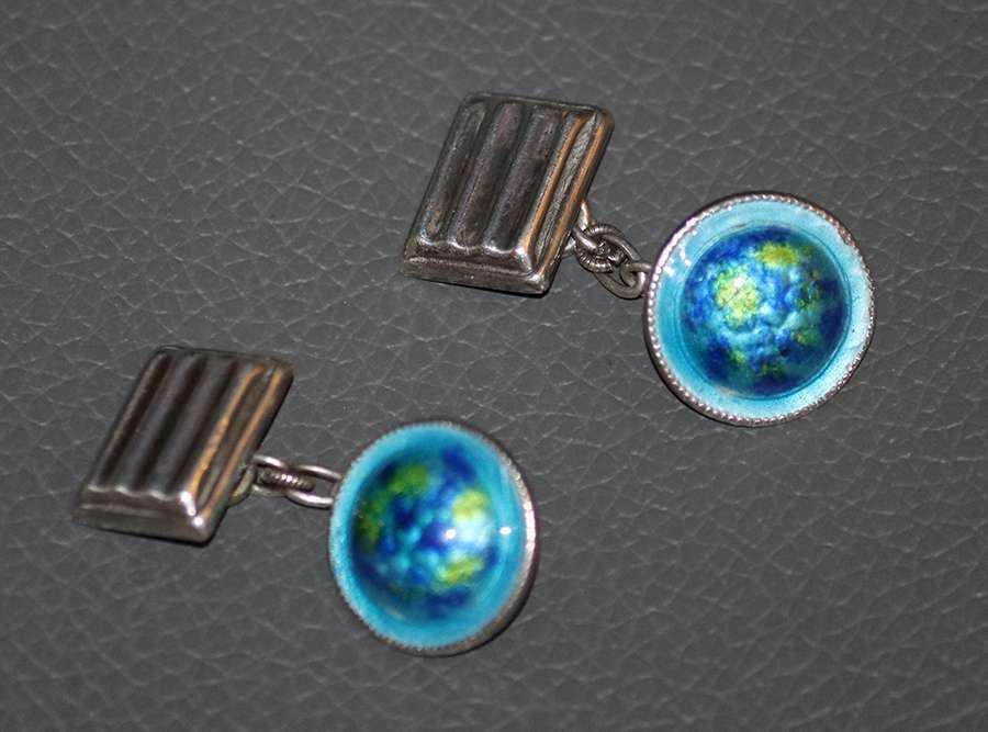 English Arts & Crafts Sterling Silver & Enamel