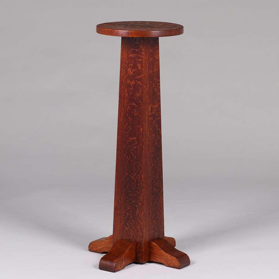 Gustav Stickley Round Pedestal c1907-1912