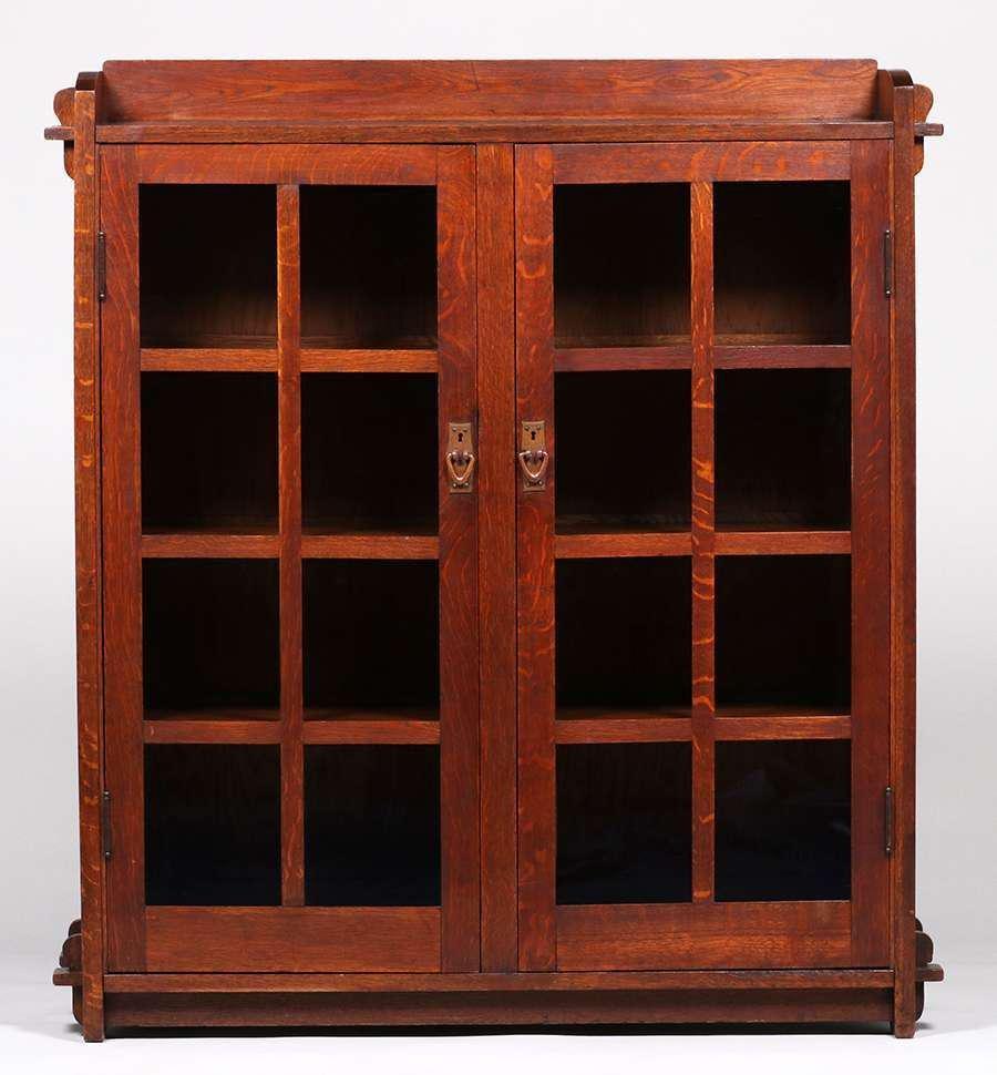 Gustav Stickley Two-Door Bookcase c1905