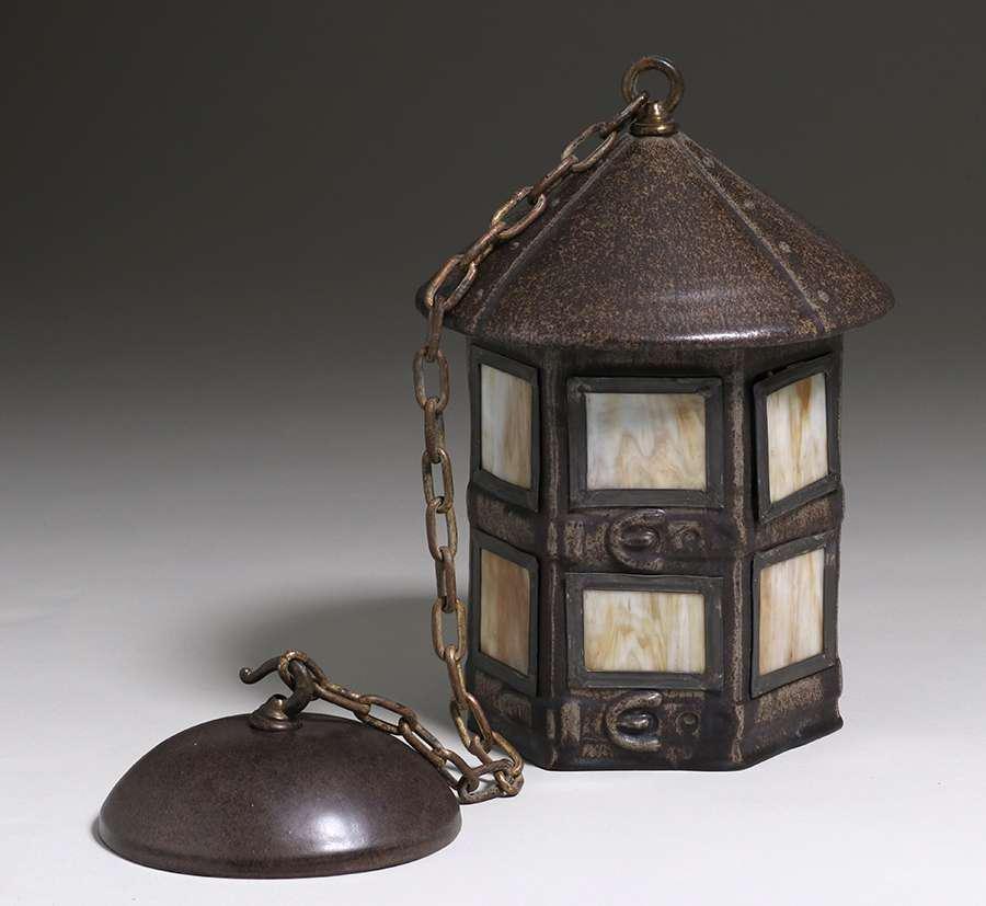 Fulper Pottery Hanging Lantern c1910