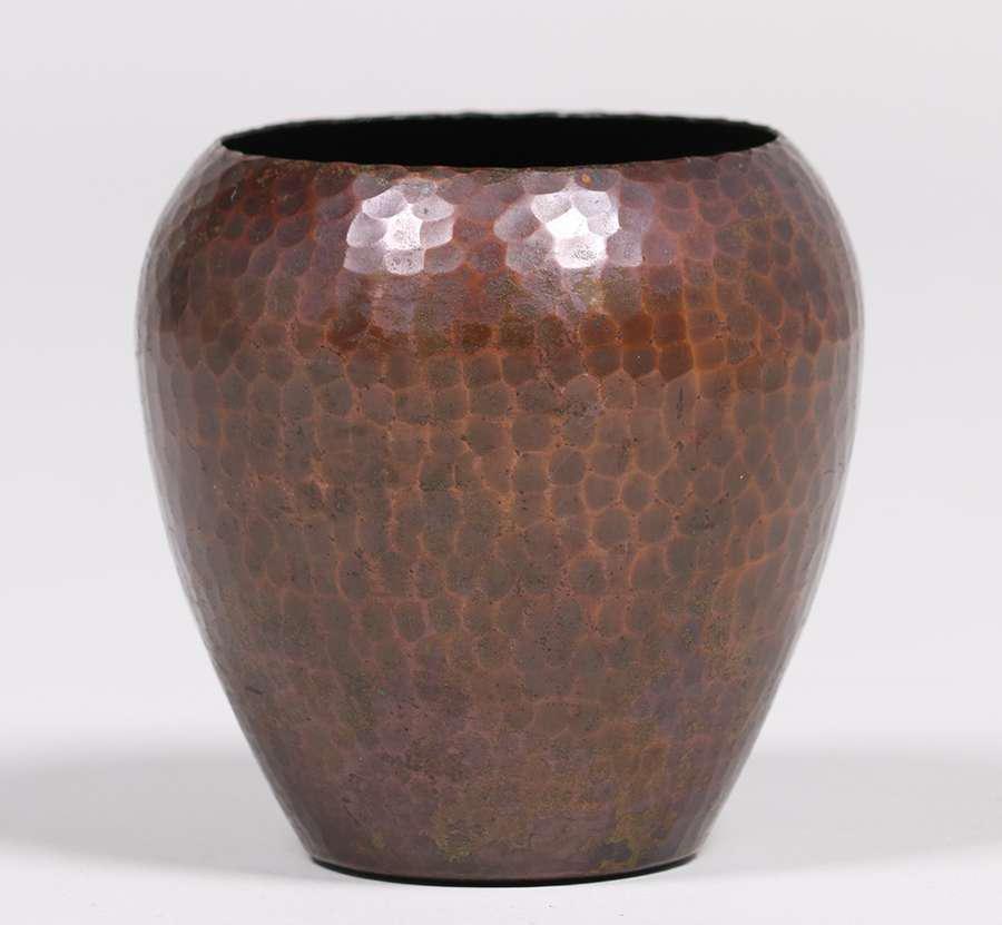 Roycroft Hammered Copper Bulbous Vase