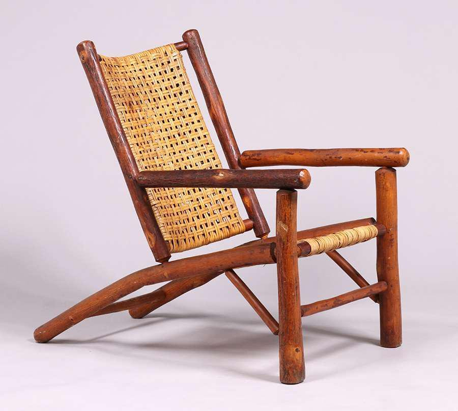 Contemporary Old Hickory Style Lounge Chair