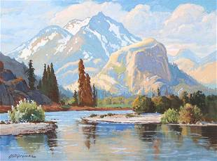 Henry Dietrich (Dick) Gremke Painting Sierras c1910