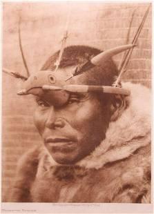 Edward Curtis Photogravure Maskette Nunivak 1928