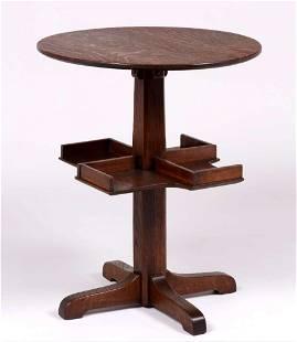 Limbert Revolving Side Table c1912