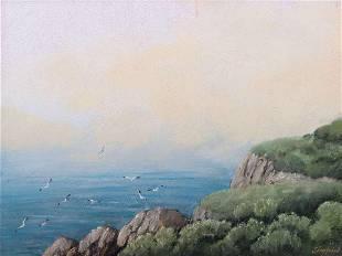 Edwin Siegfried Pastel Bodega Bay c1920s