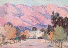 Evylena Nunn Miller Painting San Gabriel Mountains