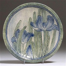 Newcomb College Crocuses Plate Sara Levy 1907