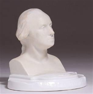 West Coast Porcelain George Washington Ashtray c1920s
