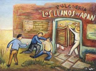 Vintage Mexican Painting Los Llanos de Apan