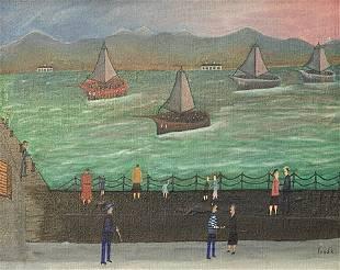 Folk Art 1960s Painting