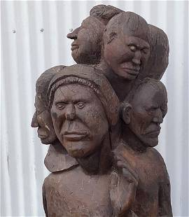 New Mexico WPA Era Native American Carved Sculpture