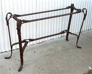 American Southwest HandForged Iron Table c1920s