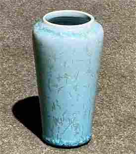 University City Blue Crystalline Vase c1913