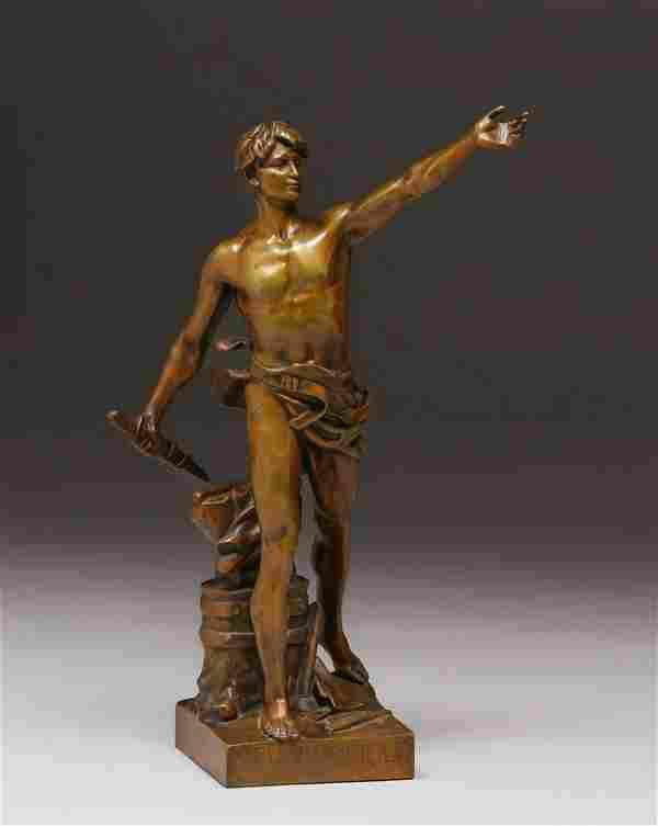 Eugene Marioton French Bronze Devoir Civique 1904
