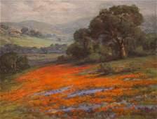 William F. Jackson  Painting CA Poppies & Lupine