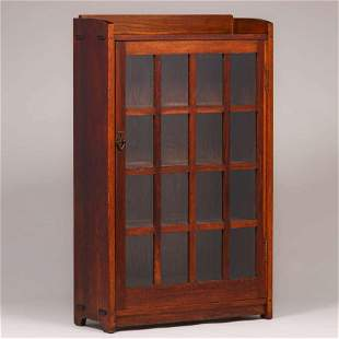Gustav Stickley #715 One-Door Bookcase c1910