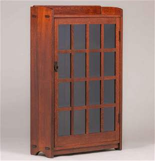 Gustav Stickley One-Door Bookcase c1910