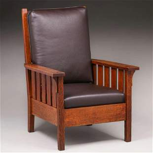 Gustav Stickley #324 Slatted Armchair c1910